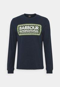 Barbour International - GRID LOGO TEE - Top sdlouhým rukávem - navy - 0