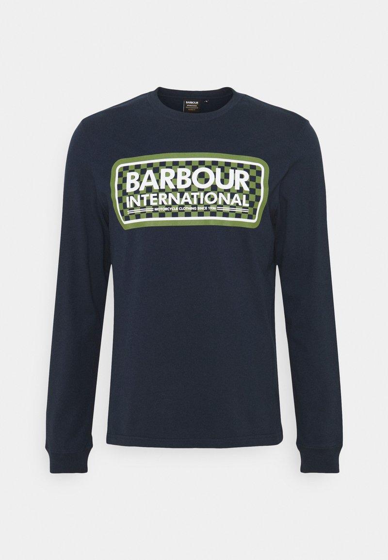 Barbour International - GRID LOGO TEE - Top sdlouhým rukávem - navy