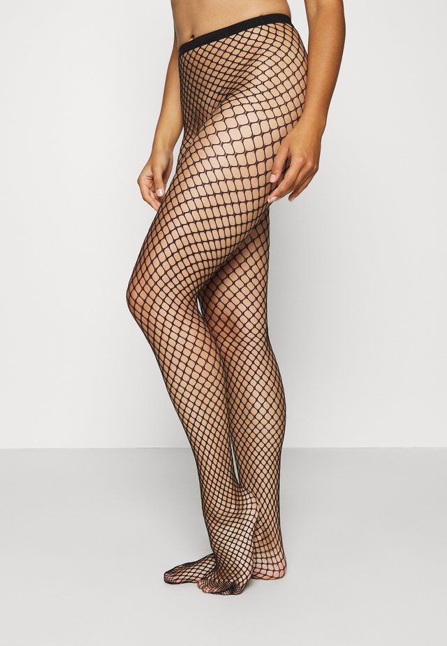 LARGE FISHNET TIGHT STYLE - Strømpebukser - black