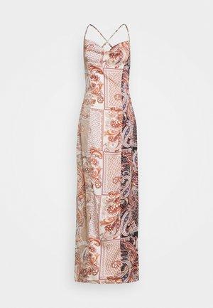 COWL NECK CAMI MAXI DRESS - Maxi dress - rust