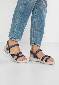 ECCO - CRUISE II - Walking sandals - marine/ice flower - 0