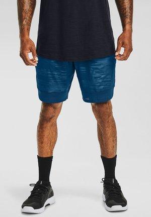 TRAIN STRETCH PRINT  - Sports shorts - graphite blue