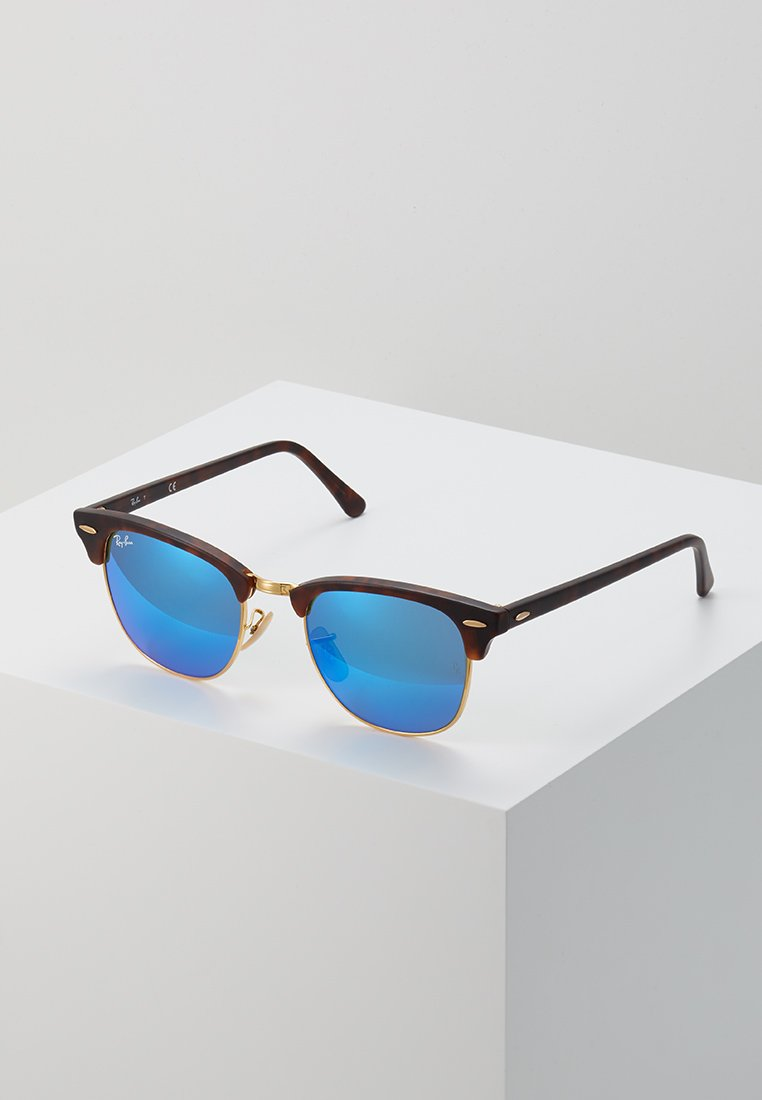 Ray-Ban - CLUBMASTER - Sunglasses - brown/blue