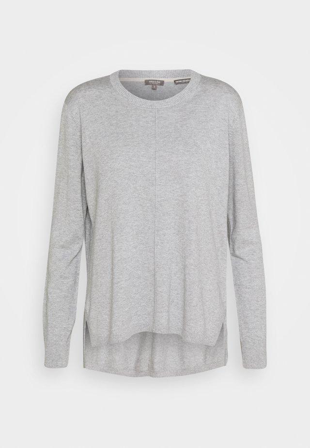 JUMPER ROUND NECK - Jumper - soft light grey melange