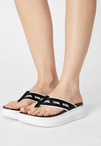 KARL LAGERFELD - KAPRI - T-bar sandals - black/white - 0