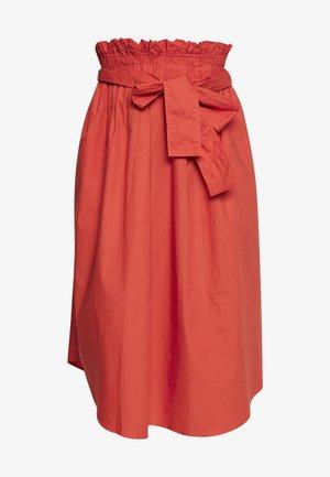 FROCK POPLIN - Pencil skirt - summer fig