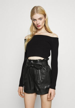 OFF SHOULDER - Jumper - black