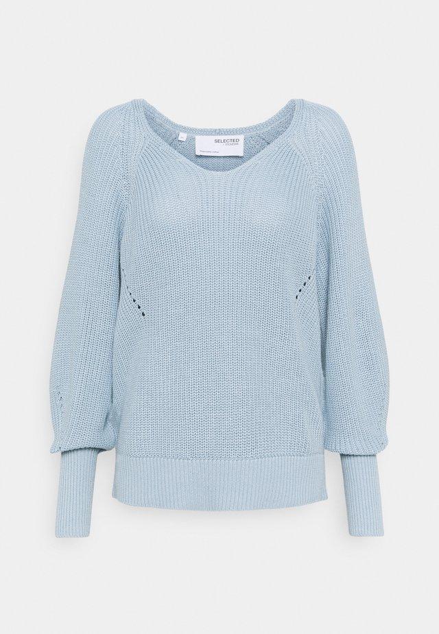 SLFEMMY VNECK  - Strickpullover - cashmere blue