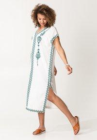 Indiska - BORA BORA - Robe d'été - white - 2