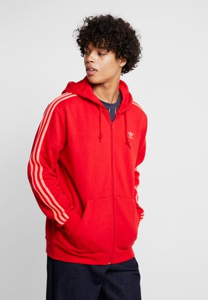3-STRIPES - Zip-up hoodie - scarlet