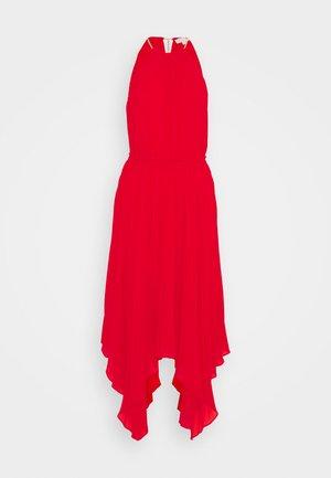 PLEATED HALTER  - Koktejlové šaty/ šaty na párty - crimson