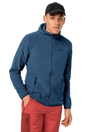 Fleece jacket - indigo blue stripes