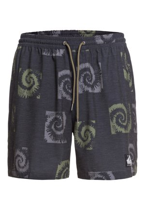 "OUT THERE 17"" - Swimming shorts - black cosmic vortex"