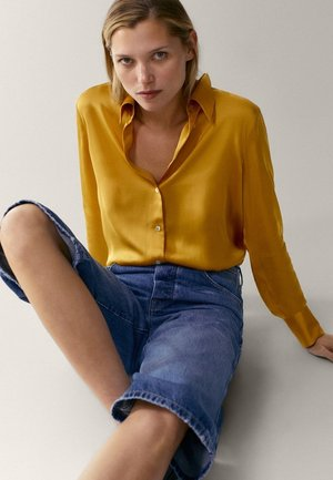 Button-down blouse - mustard yellow