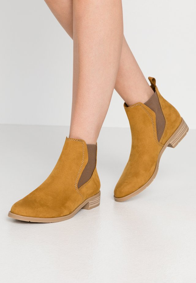 Ankle boots - mustard