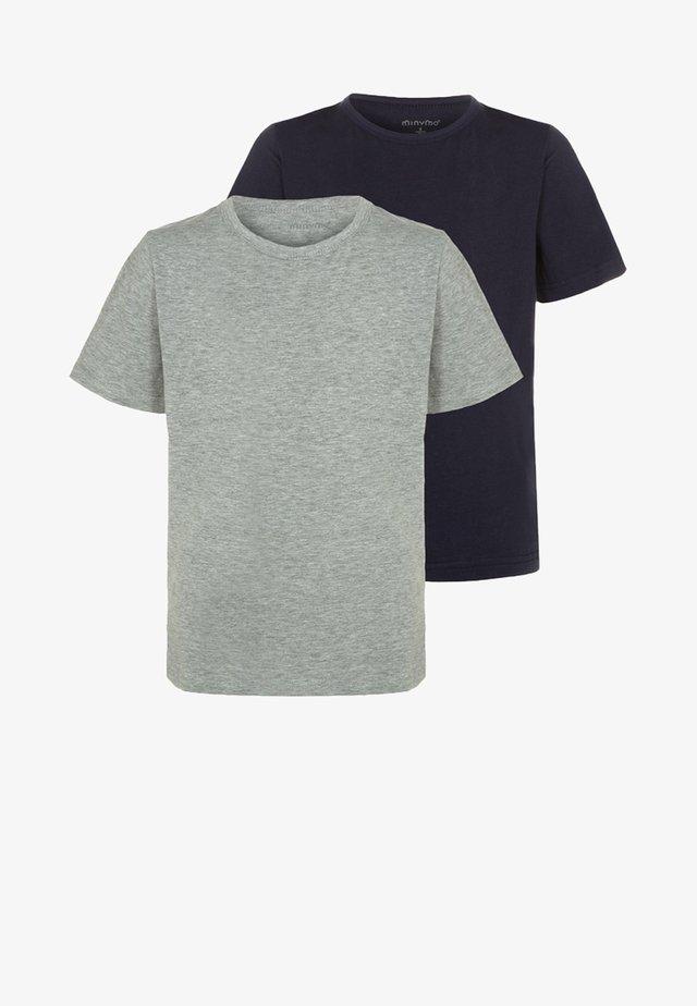 2 PACK - T-shirt basique - dark navy