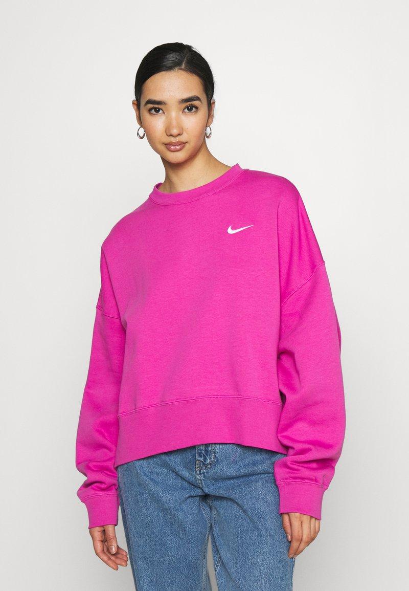 Nike Sportswear - CREW TREND - Sweatshirt - active fuchsia/white