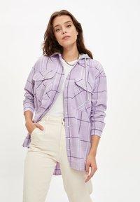 DeFacto - Button-down blouse - purple - 3
