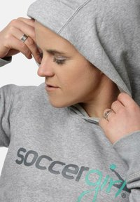 soccergirl - Hoodie - heather grey - 1