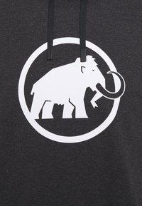 Mammut - MAMMUT LOGO HOODY MEN - Mikina skapucí - black melange - 2