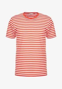 ONSJAMIE LIFE SS STRIPE REG TEE NOO - T-shirt med print - high risk red
