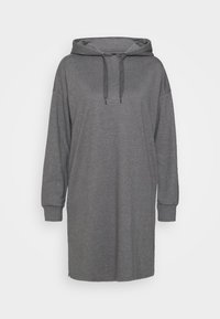 Even&Odd - MINI HOODED LOOSE FIT DRESS - Day dress - mottled grey - 3