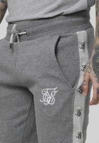 SIKSILK - MUSCLE FIT JOGGER - Trainingsbroek - grey marl/snow marl - 4