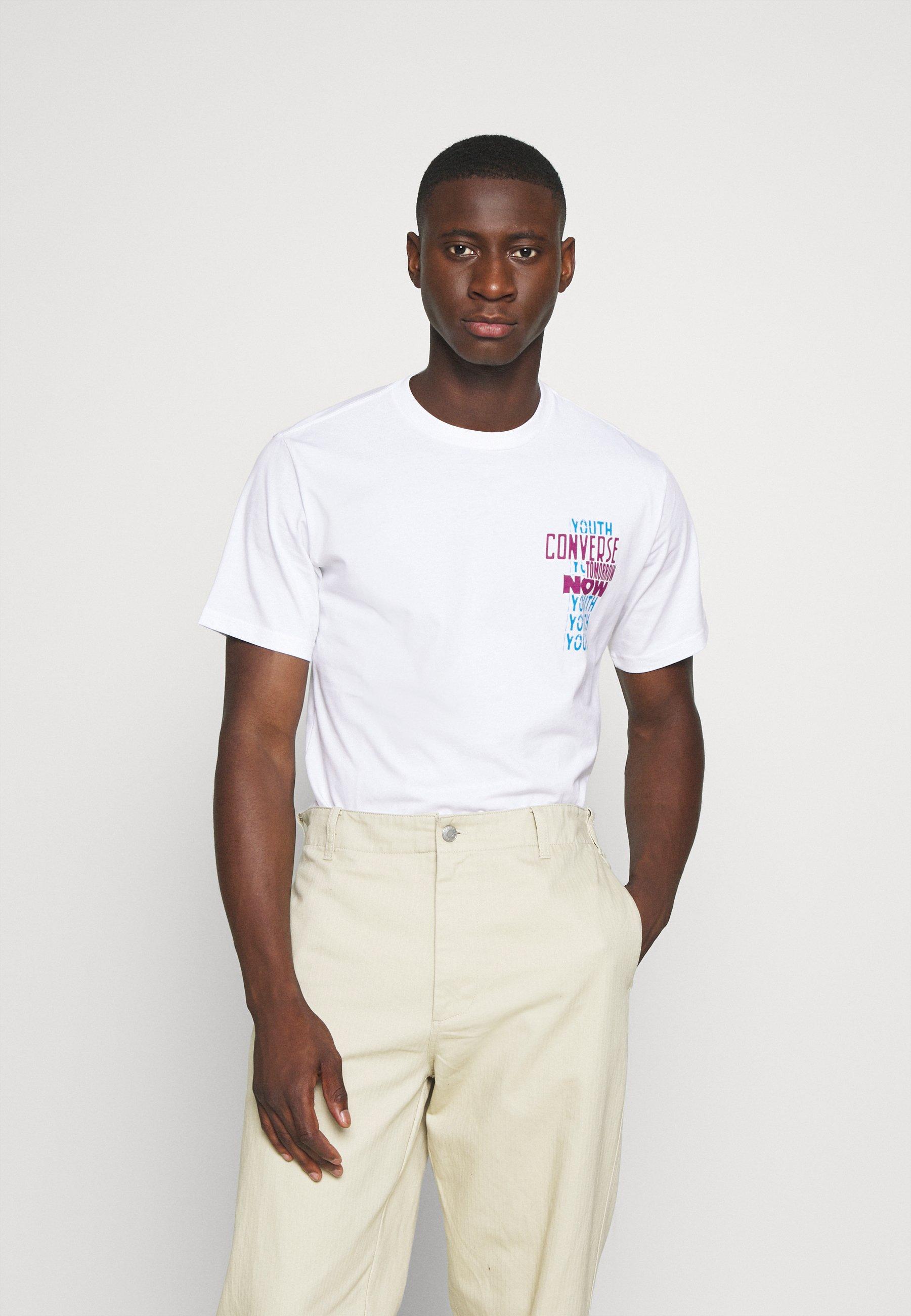 Converse YOUTH NOW TEE - Print T-shirt - white CIUAs