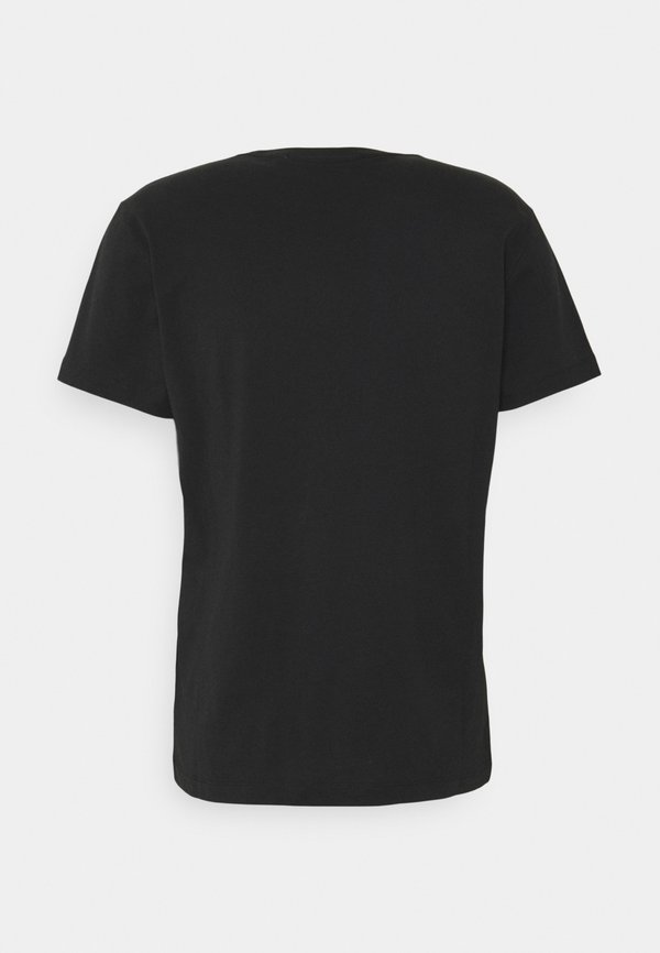 Calvin Klein Jeans MONOGRAM WATERBASE TEE UNISEX - T-shirt z nadrukiem - black/czarny Odzież Męska VODH
