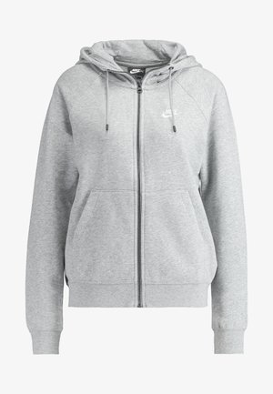 HOODIE - veste en sweat zippée - grey heather/white