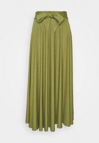 Esprit - A-line skirt - olive - 3