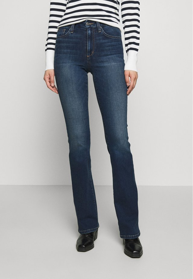 HI HONEY - Bootcut jeans - dark-blue denim