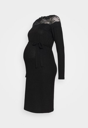 MLDEA DRESS - Pletené šaty - black