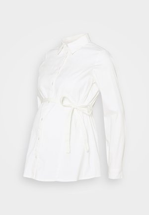 MLNIKOLINA WOVEN SHIRT - Button-down blouse - bright white