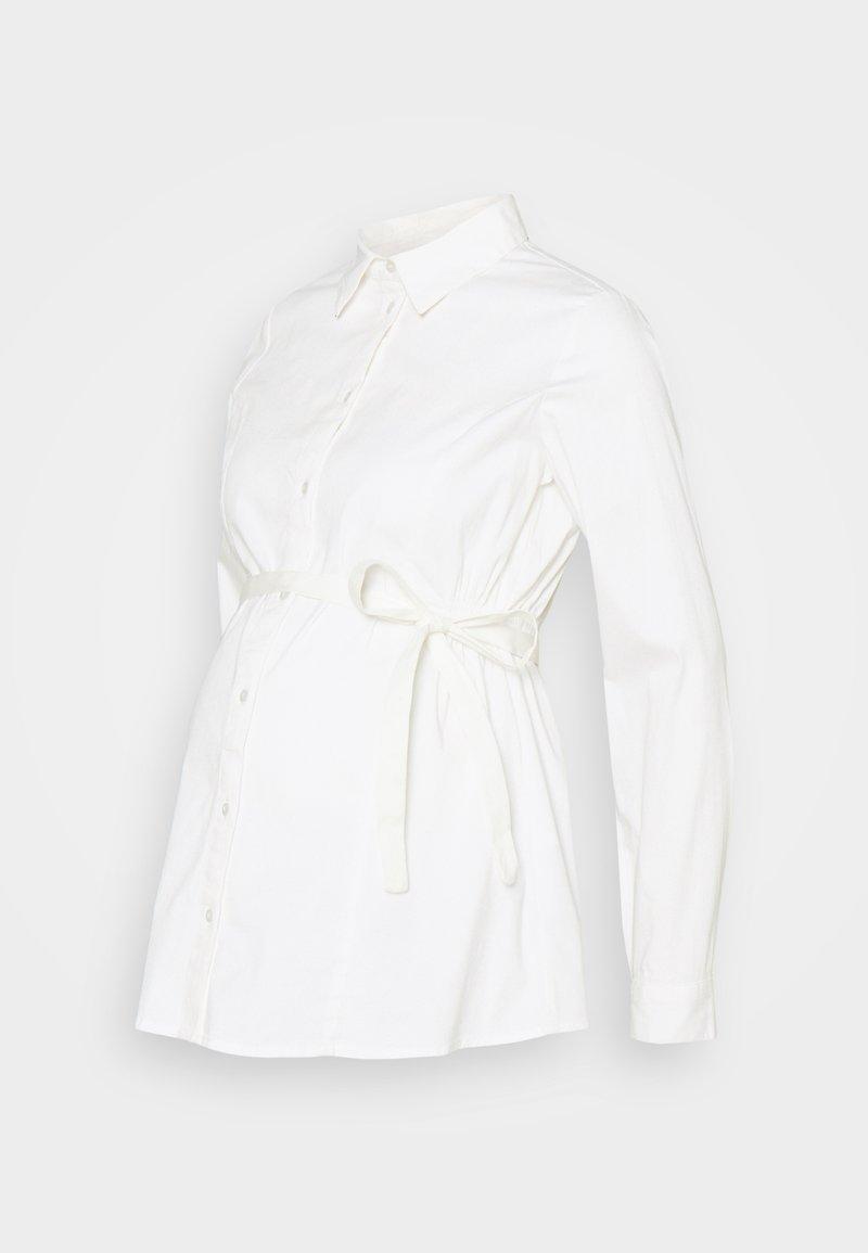 MAMALICIOUS - MLNIKOLINA WOVEN SHIRT - Button-down blouse - bright white