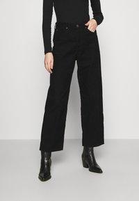Lee - WIDE LEG - Trousers - black - 0