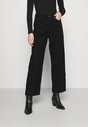 WIDE LEG - Bukse - black