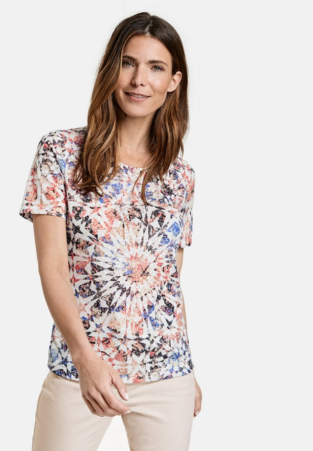 T-shirt print - rot/orange/blau multicolor