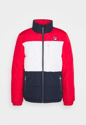 AVVENTURA - Winter jacket - true red/black iris/blanc de blanc