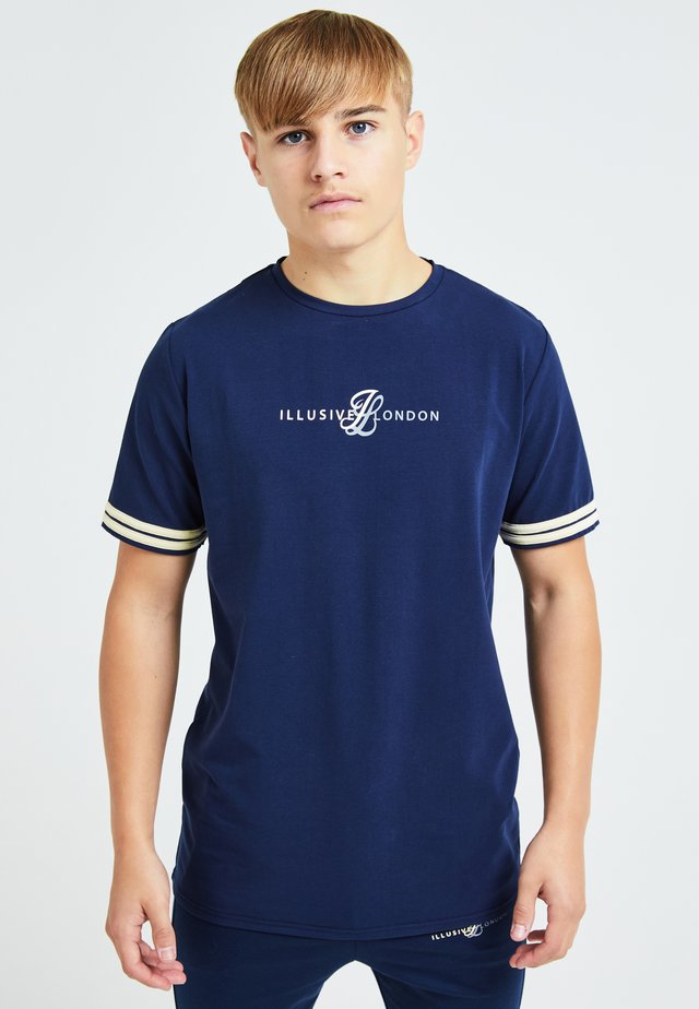ILLUSIVE LONDON - T-shirt imprimé - navy & cream