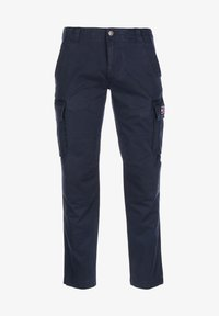 Tommy Jeans - HOSE STRAIGHT CARGO - Cargo trousers - twilight navy - 0