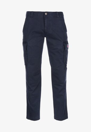 HOSE STRAIGHT CARGO - Cargo trousers - twilight navy