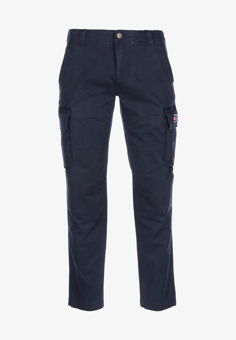 Tommy Jeans - HOSE STRAIGHT CARGO - Cargo trousers - twilight navy