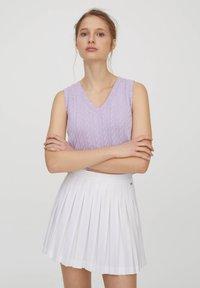 PULL&BEAR - A-line skirt - white - 6