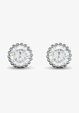 DAMEN-OHRSTECKER 925ER SILBER 2 ZIRKONIA - Earrings - silber