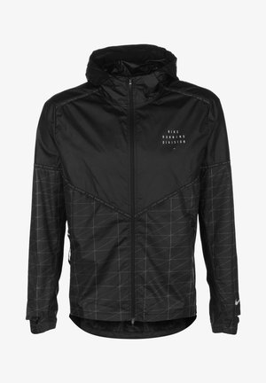 M NK RUN DVN SHIELD FLASH JKT - Kurtka do biegania - black / reflective silver