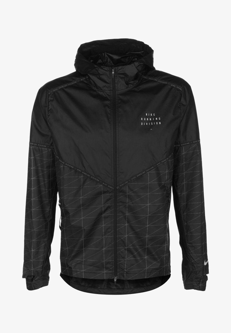 Nike Performance - M NK RUN DVN SHIELD FLASH JKT - Sports jacket - black / reflective silver