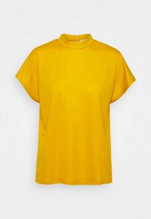 TINA - Basic T-shirt - dark dusty yellow
