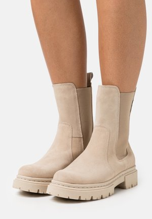 Platform ankle boots - almond