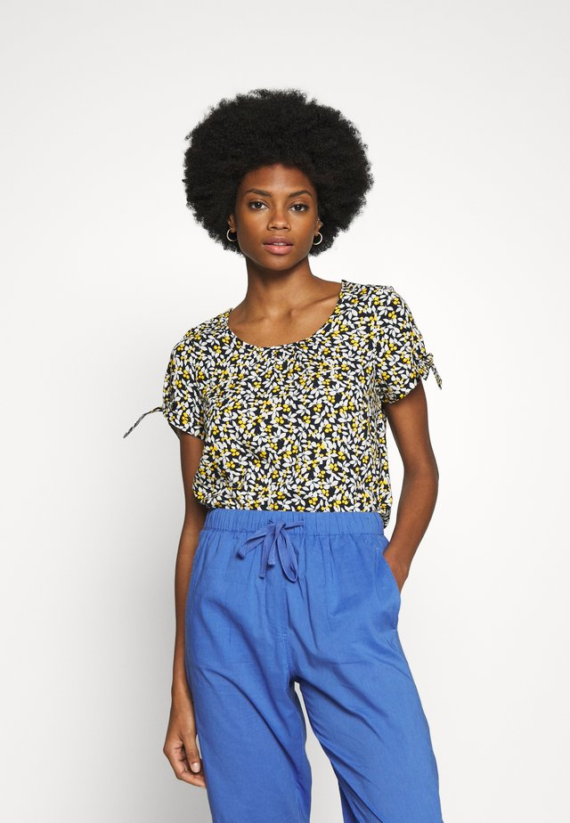 BLOUSE WITH PLEATS - Blusa - summer night
